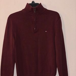 Tommy Hilfiger, Junior's Sweater, Burgundy, Small